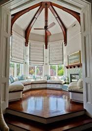 Kitchen Bay Window Seating Bay Window Design With Blinds And Window Seating Interior Bay
