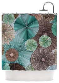 brown and turquoise shower curtain. heidi jennings \ brown and turquoise shower curtain g