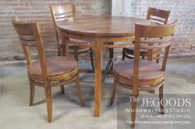 teak minimalist of chair and dining table ideal for private kitchen cafe restaurant bistro etc produced by jegoods furniture indonesia available at