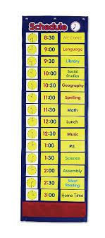 Learning Resources Daily Schedule Pocket Chart 52 Piece Set