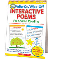 Counting Poems Flip Chart 20 Write On Wipe Off Interactive Poems Shared Reading Flip Chart