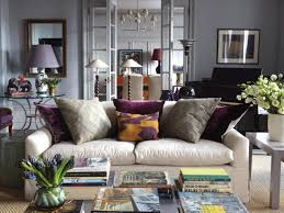 Purple And Gray Living Room Transitional Design Living Room Purple And Gold Pillows Pillows
