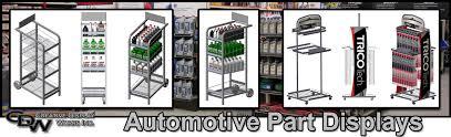 automotive parts displays