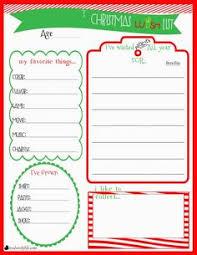Childrens Christmas Wishlist Printable