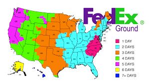 Fedex Zone Chart Fedex Shipping Times Map Map 2018