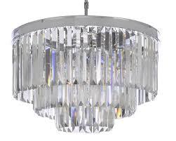 odeon crystal glass fringe 3 tier chandelier chandeliers lighting chrome finish