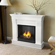 real flame cau 41 in ventless gel fuel fireplace in white