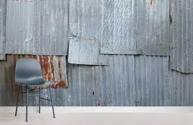 corrugated panel textures room wall murals