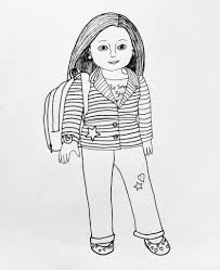 Coloring Pages American Girl Coloring Pages To Print American Girl