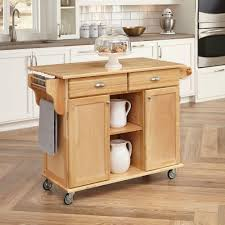 Kitchen Center Island Home Styles Napa Natural Kitchen Cart With Storage 5099 95 The