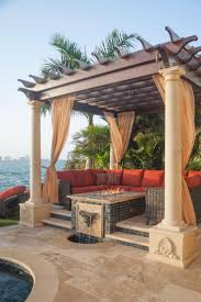 pictures gallery of yard art patio fireplace plano elegant hide your alluminum pool fence with pampas grass