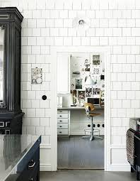 subway home office. A Floor-to-ceiling Wall Of White Ceramic Tile Frames The Views Subway Home Office M