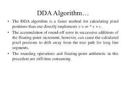 digital differential analyzer line drawing algorithm