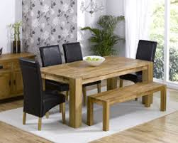 table with bench. turin oak dining table - 200cm with bench \u0026 4 rochelle leather chairs option of black, brown or cream