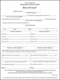 Motor Vehicle Bill Of Sale Form Pdf Free Nebraska Motor Vehicle Bill Of Sale Form Pdf 37kb 243138728069