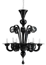 creative of black glass chandelier design within reach murano glass chandelier in black dwr