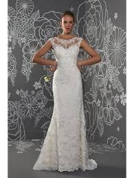 romantica penelope illusion neckline fitted lace wedding dress