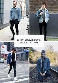 20 fur collar denim jacket outfits for men