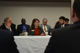 sol systems director policy new markets sara rafalson speaks at the clean energy round table in danville