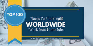 Best Places To Search For Jobs Worldwide Work From Home Jobs Best 100 Places To Apply With Today