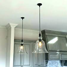 bulb hanging light fixtures pendant fixture above kitchen counter large glass bell pendants edison bulbs lights