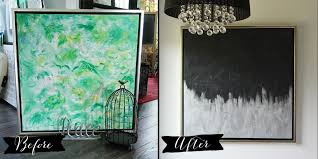 Favorite Make Artwork From Thrift Store Canvas Art Diy Mommy With Diy  Silver Black in Diy