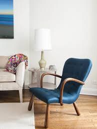 Small Armchair For Bedroom Photos Hgtv Midcentury Modern Blue Armchair In Coastal Bedroom
