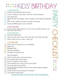 Free Printable Kids Party Planning Checklist Parties Future