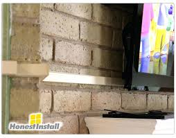 wall mount tv hide wires fireplace how to hide wires around the