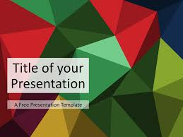 3 Template Multicolor Variant 3 Triangle Mosaic Template For Keynote