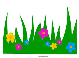 Small Picture Grass with Flowers clip art Coloring Page