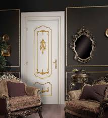 white interior door styles. Luxury White Door In Baroque Style A Dark Room Interior Design Styles O