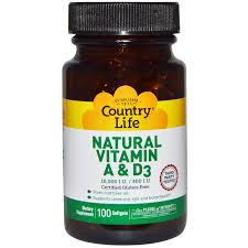 country life natural vitamin a d3 10 000 iu 400 iu 100 softgels discontinued item