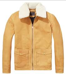 scotch soda struck gold leather jacket detachable teddy collar