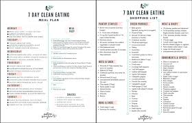 Grocer List 7 Day Healthy Meal Plan Shopping List Eating Bird Food