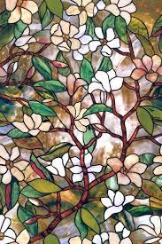 vinyl stained glass window magnolia stained glass window art aspiration for windows regarding 4 vinyl stained glass static cling window decal