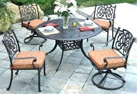 Cast Patio Table Cast Aluminum Patio Furniture Dining Sets