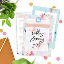 printable wedding organiser printable wedding planner ultimate wedding planning guide watercolour blue pink peach clean simple