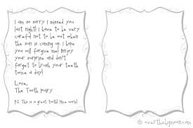 for ful tooth fairy note