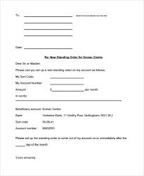 Standing Order Letter Sample Cancellation Instruction Tripevent Co