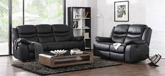 black leather sofa reclining black leather sofa set