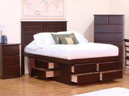 twin platform beds with storage. Image Of: Twin Platform Bed With Storage Brown Beds