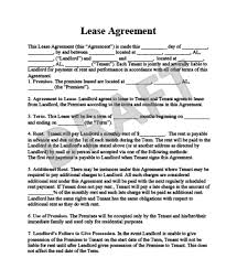 Free Sample Lease Agreement