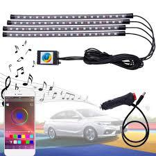 App Controlled Interior Car Lights Castaleca Car Led Strip Lights Auto Interior Rgb Atmosphere