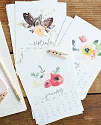 free printable 2016 desk calendar beautiful watercolor calendar free printable myfabulesslife com