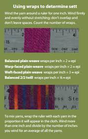 Weaving Tips Heres How To Calculate Wraps Per Inch And