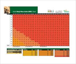Body Index Chart 11 Bmi Chart Templates Doc Excel Pdf Free Premium
