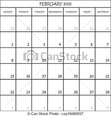 February 2015 Calendar Planner Month On Transparent Background