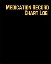 Medication Record Chart Log Undated Personal Medication