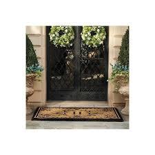 exterior entry rugs. monaco monogrammed coco door mat - a, 36\ exterior entry rugs